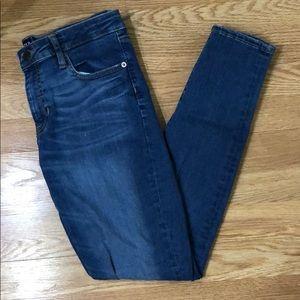 Women's size 8 denim blue jeans